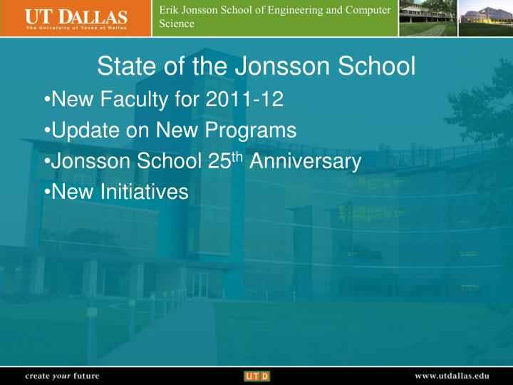 State of the Jonsson School