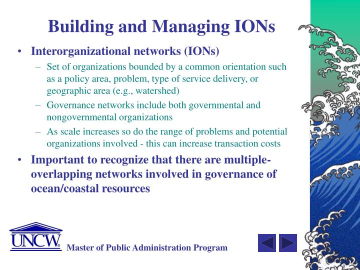 Building and Managing IONs