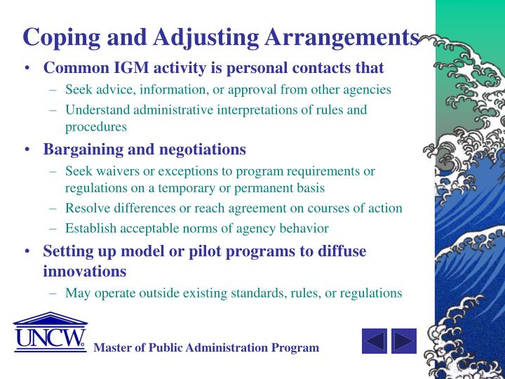 Coping and Adjusting Arrangements