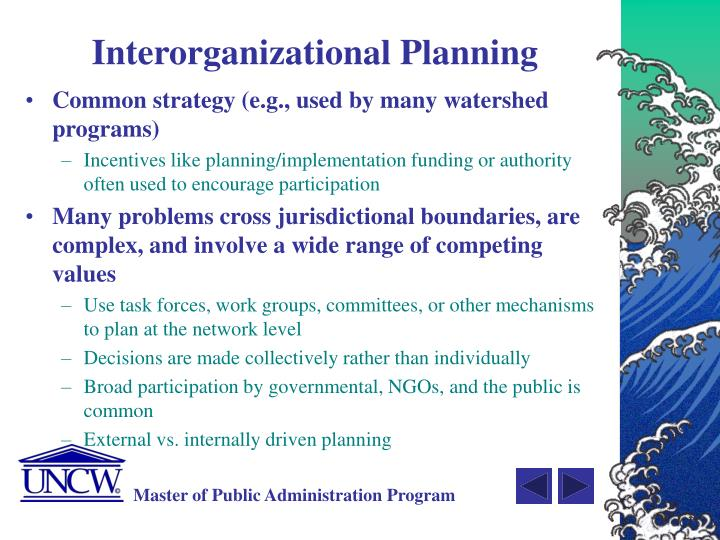 Interorganizational Planning