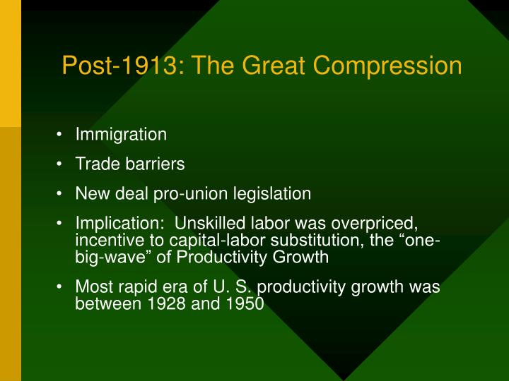 Post-1913: The Great Compression