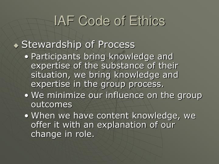 IAF Code of Ethics