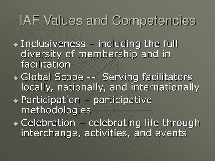 Iaf values and competencies