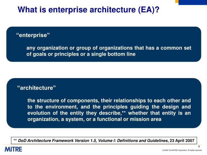 What is enterprise architecture (EA)?
