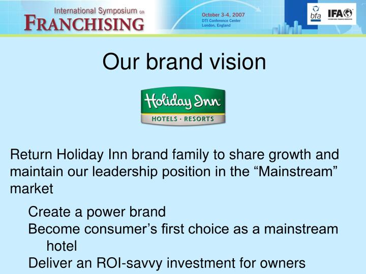 Our brand vision