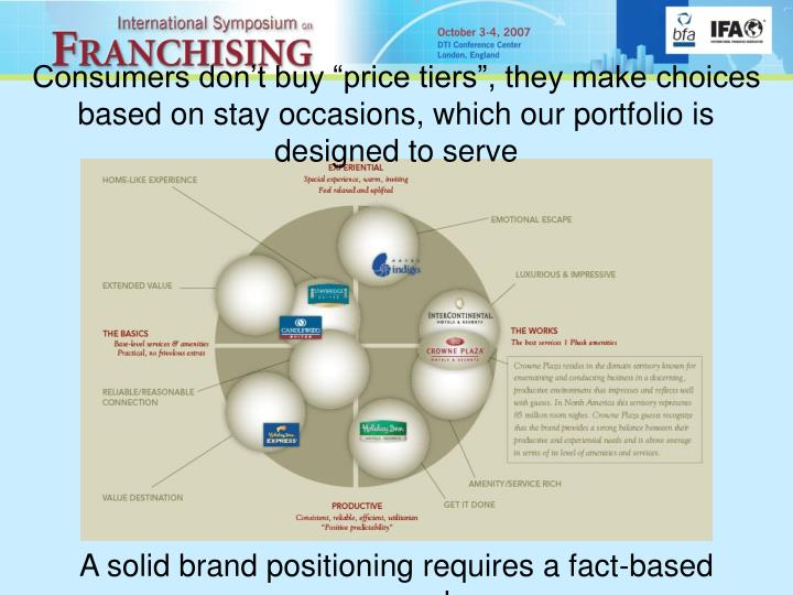 """Consumers don't buy """"price tiers"""", they make choices based on stay occasions, which our portfolio is designed to serve"""