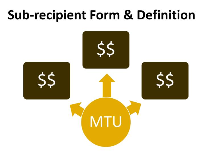 Sub-recipient Form & Definition