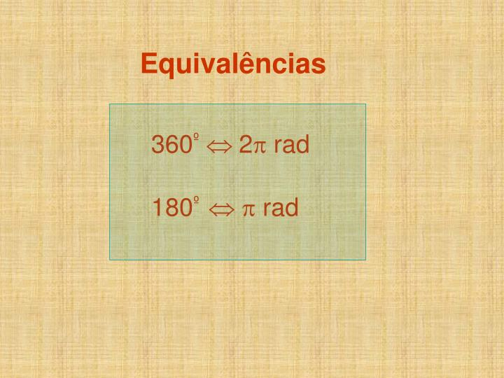 Equivalências