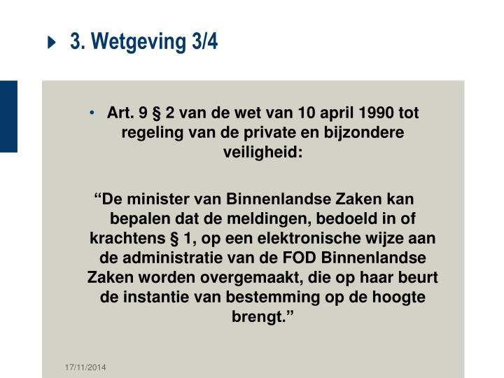 3. Wetgeving 3/4