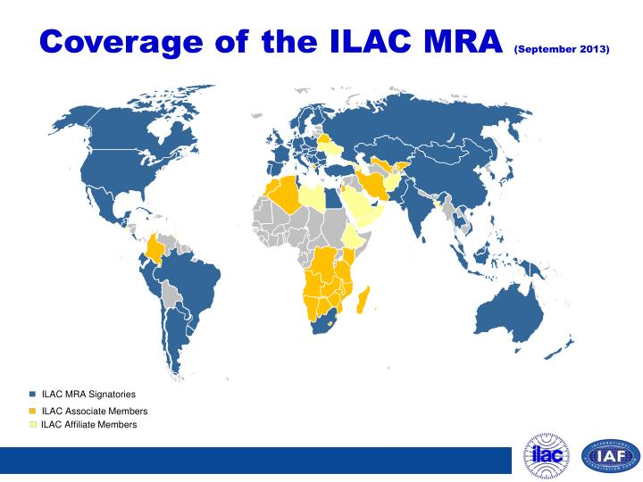 Coverage of the ILAC MRA