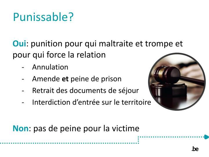Punissable