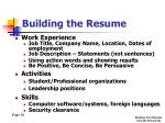 building the resume5