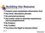 building the resume7
