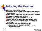 polishing the resume3