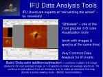 ifu data analysis tools1