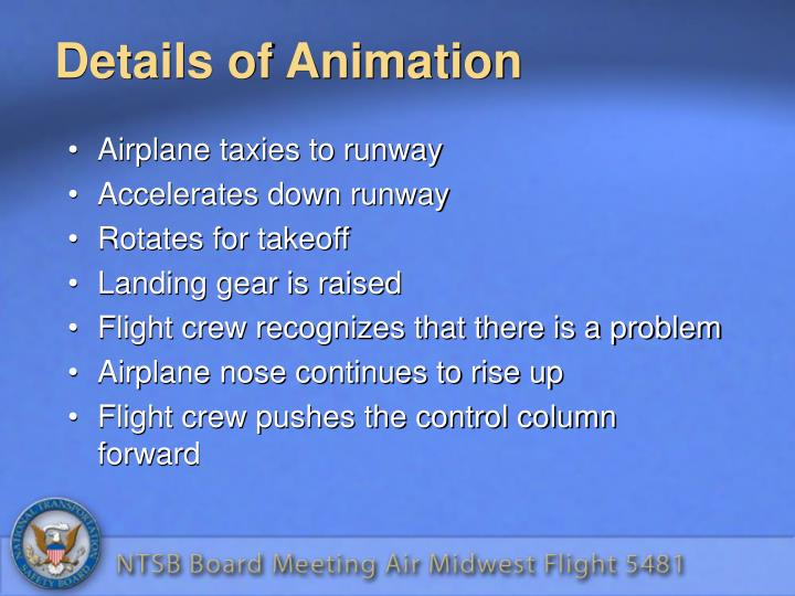 Details of Animation