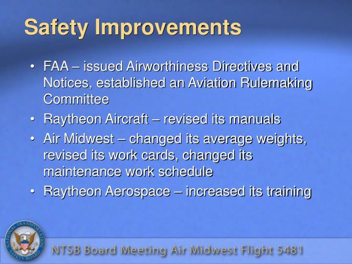 Safety Improvements
