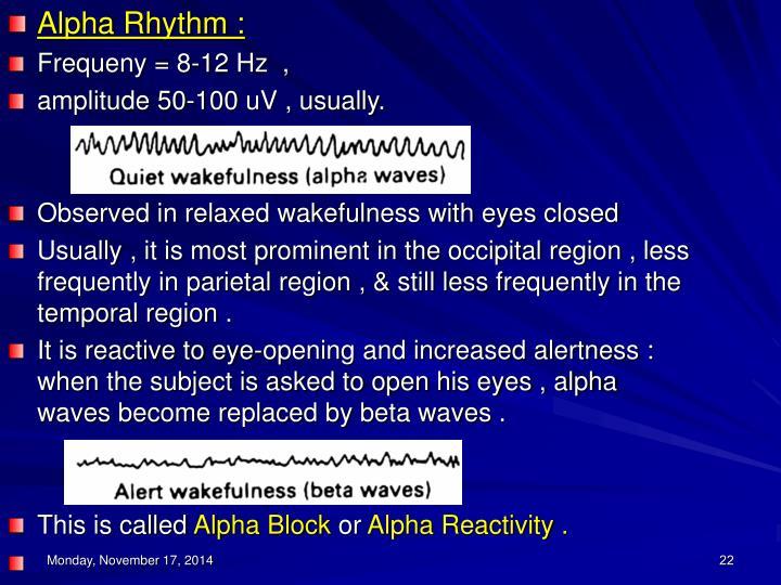 Alpha Rhythm :