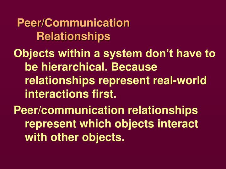 Peer/Communication Relationships