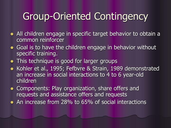 Group-Oriented Contingency