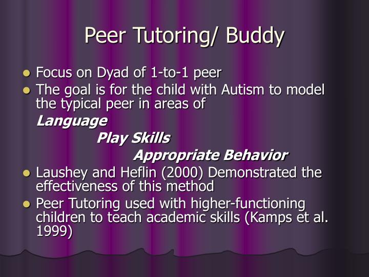 Peer Tutoring/ Buddy