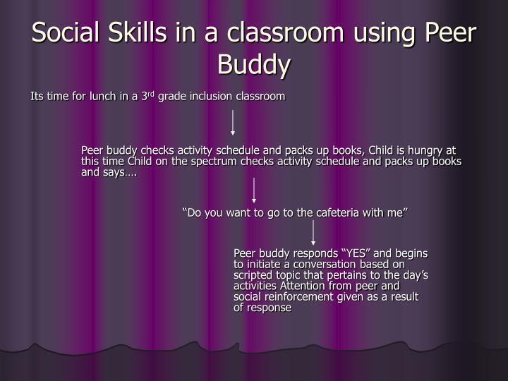Social Skills in a classroom using Peer Buddy