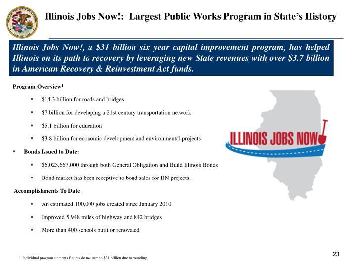 Illinois Jobs Now!:  Largest