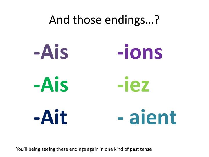 And those endings…?