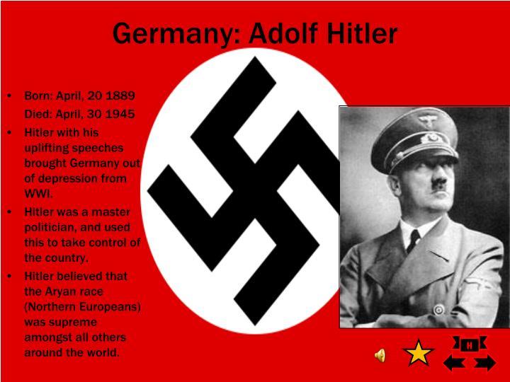 Germany: Adolf Hitler