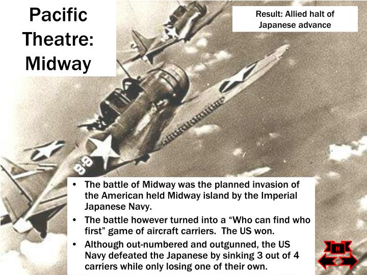 Result: Allied halt of Japanese advance