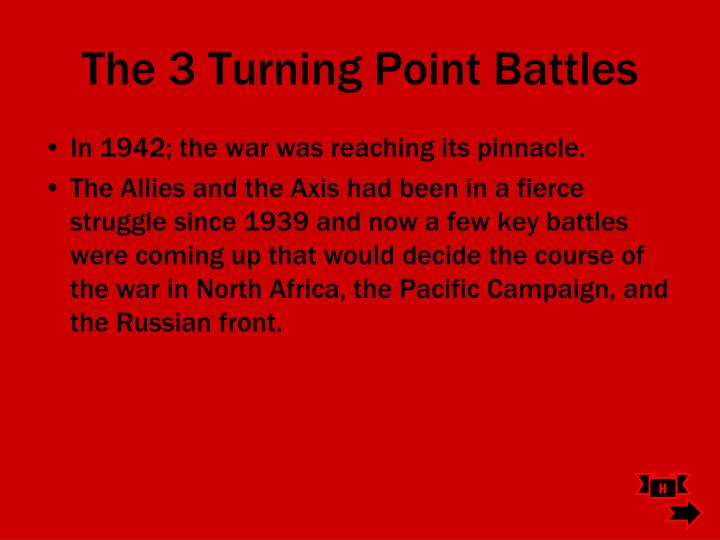 The 3 Turning Point Battles