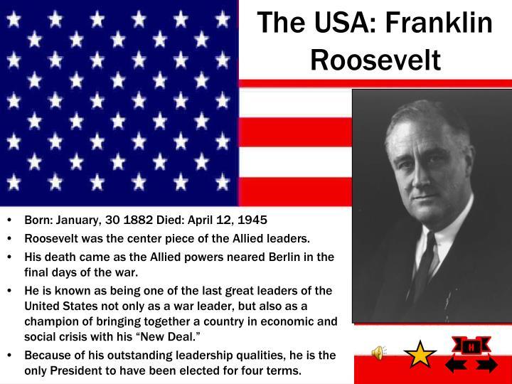 The USA: Franklin Roosevelt