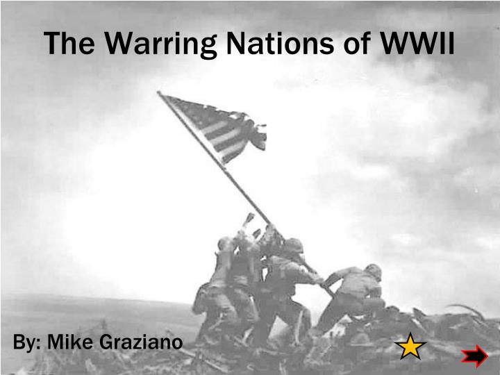 The warring nations of wwii