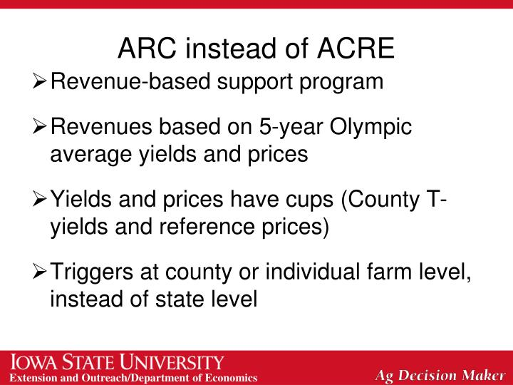 ARC instead of ACRE