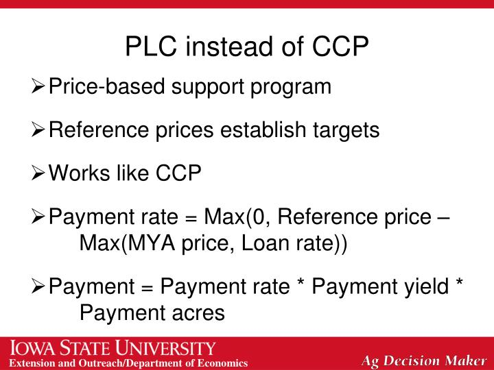 PLC instead of CCP