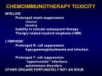 chemoimmunotherapy toxicity