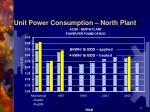 unit power consumption north plant