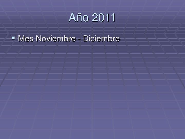 A o 2011