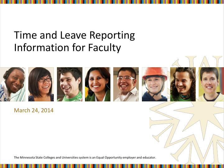 time and leave reporting information for faculty n.
