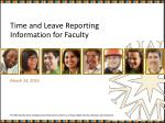time and leave reporting information for faculty