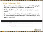 view balances tab