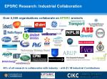 epsrc research industrial collaboration