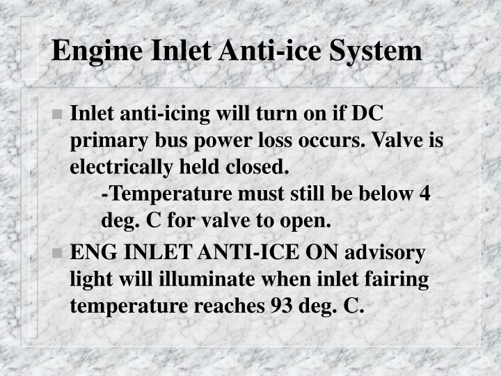 Engine Inlet Anti-ice System
