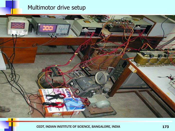 Multimotor drive setup