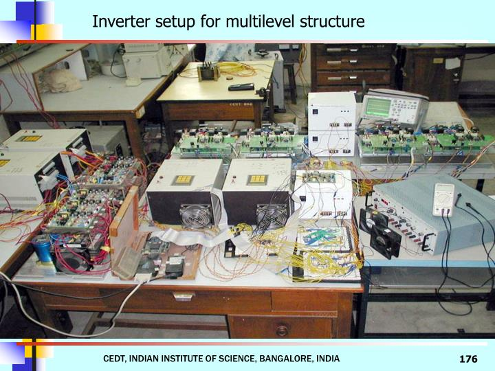 Inverter setup for multilevel structure