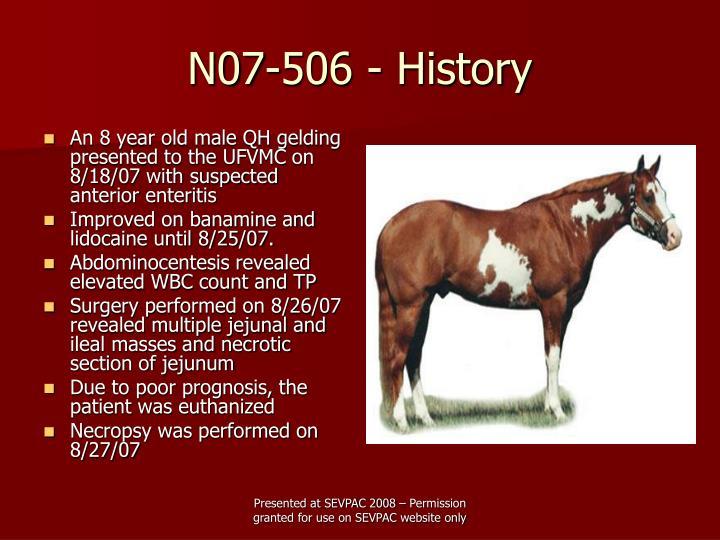N07 506 history