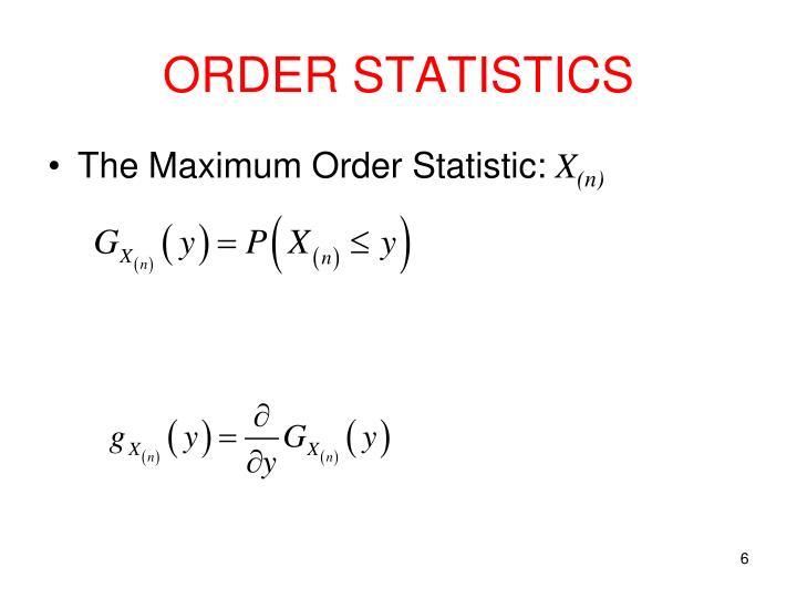 ORDER STATISTICS