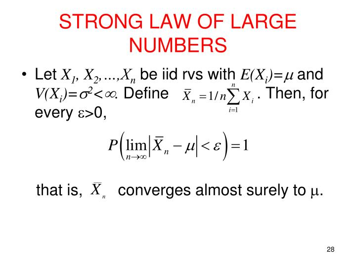 STRONG LAW OF LARGE NUMBERS