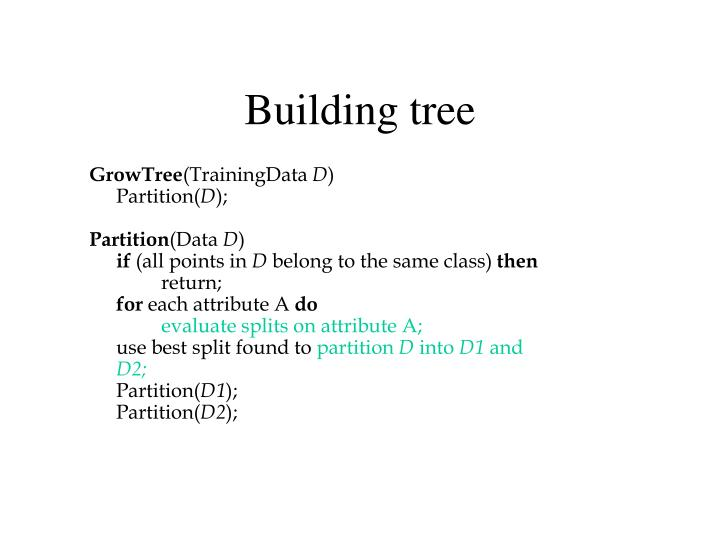 Building tree