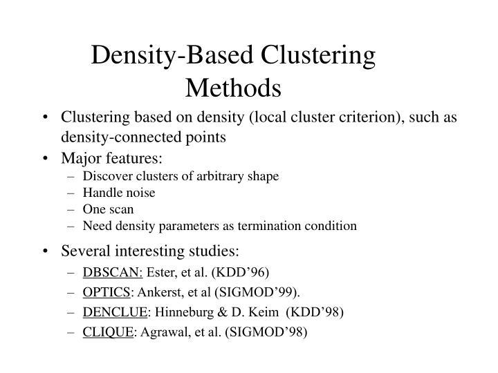Density-Based Clustering Methods